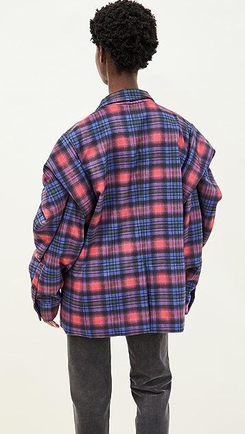 Natasha Zinko Double-Breasted Jacket With Plated Sleeves
