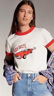 Natasha Zinko The Great Red Shark Ringer T-Shirt