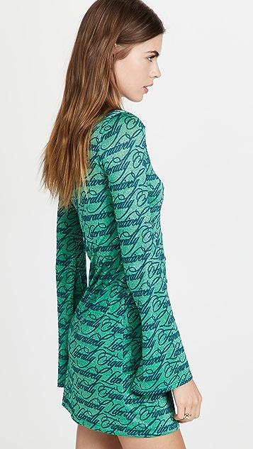 Natasha Zinko Text Print Mini Dress