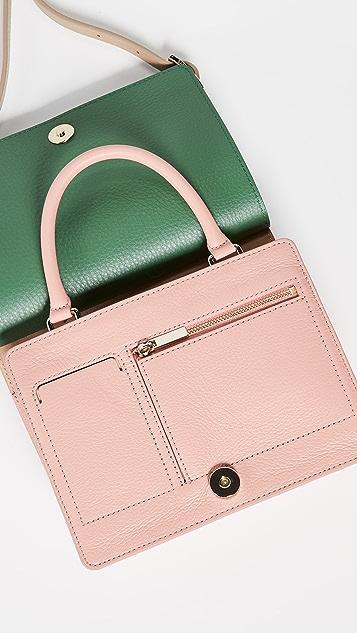 OAD Миниатюрная сумка-портфель с цветными блоками Prism