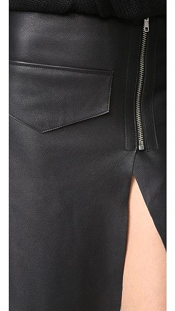Oak Moto Skirt