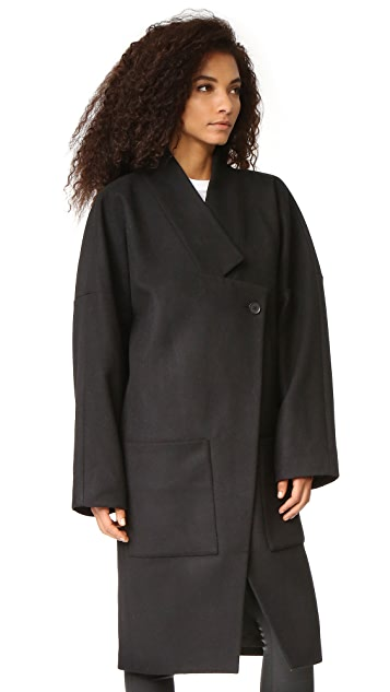 Oak Dropped Lapel Coat