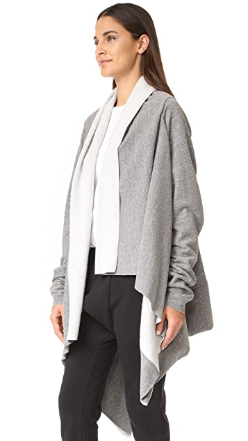 Oak Long Sleeve Wrap Cardigan