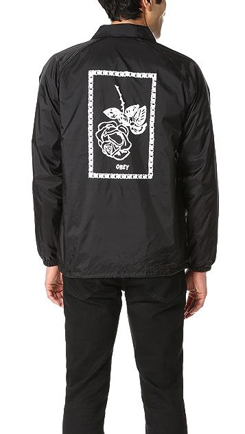 Obey Nobody's Flower Coach Jacket