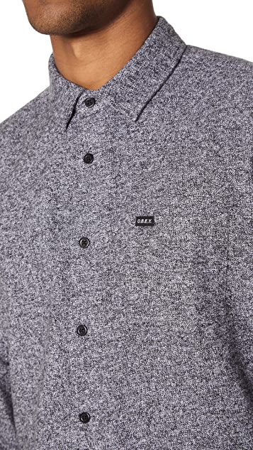 Obey Number Woven Shirt