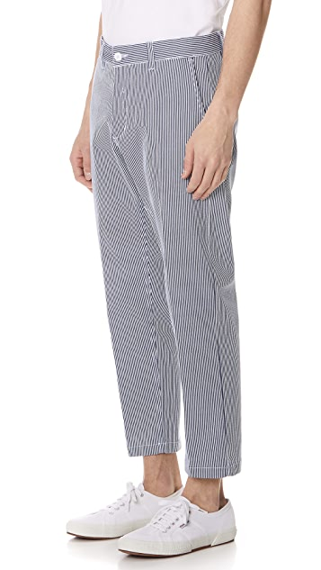 Obey Straggler Stripe Flooded Pants