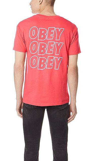 Obey Obey Jumble Lo Fi Short Sleeve Tee