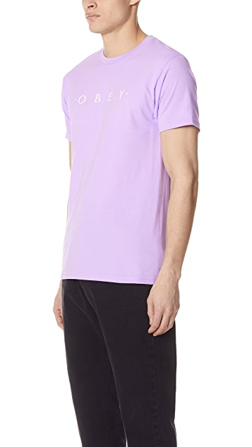 Obey Novel Obey Short Sleeve Tee