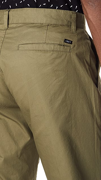 Obey Straggler Light Flooded Pants