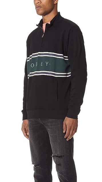 Obey Palisade Mock Neck Pullover