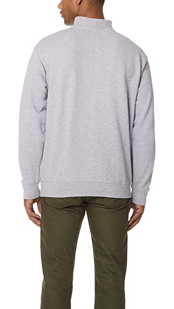 Obey Palisade Mac Neck Zip Sweatshirt