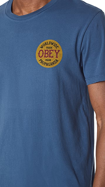 Obey Obey Trademark Insignia Tee