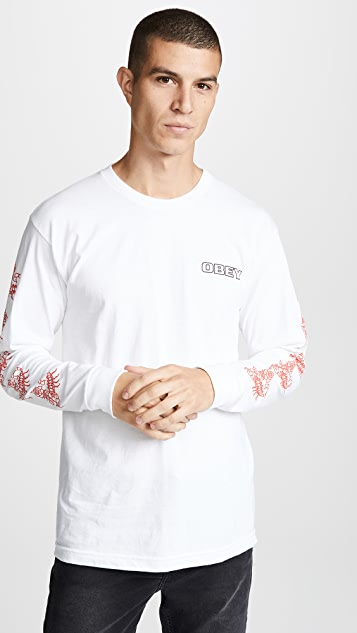 Obey Scorpion Rose Long Sleeve Tee
