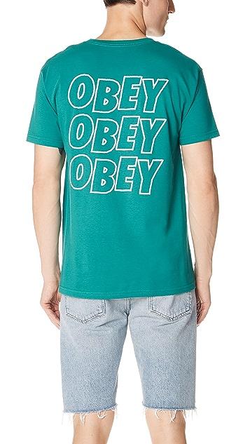 Obey Jumble Lo Fi Short Sleeve Tee