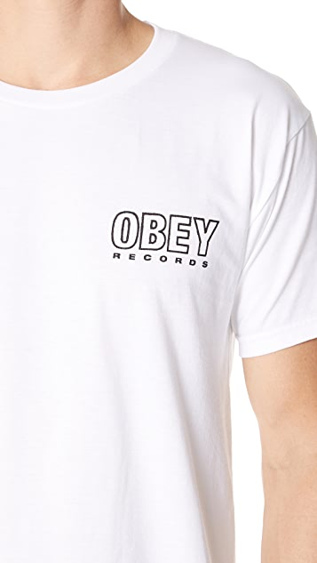 Obey Records Tee