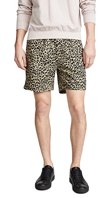 Obey Easy Leopard Shorts