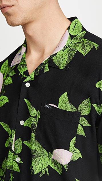 Obey Brainiac Floral Short Sleeve Shirt