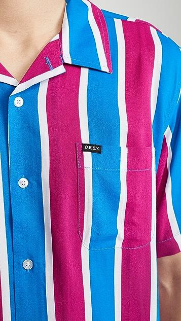 Obey Sutter Stripe Short Sleeve Shirt