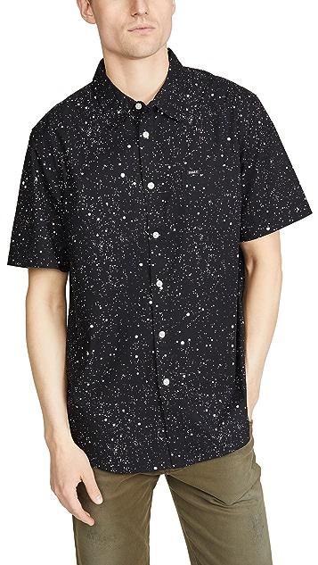 Obey Hanover Paint Splatter Short Sleeve Shirt