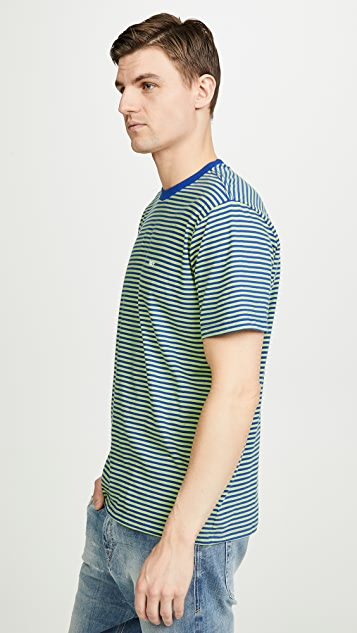 Obey Apex Striped Short Sleeve Tee