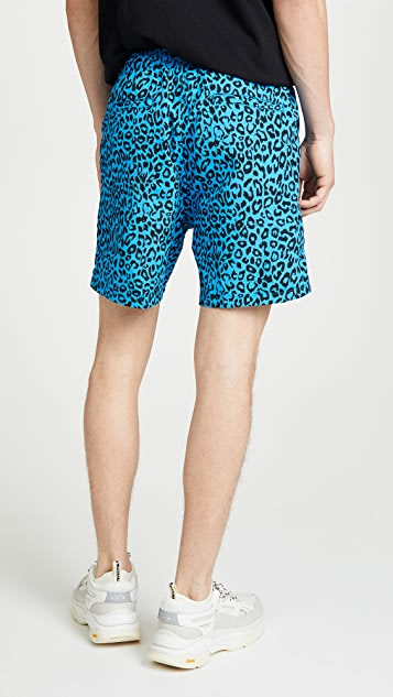 Obey Leopard Print Dolo Shorts
