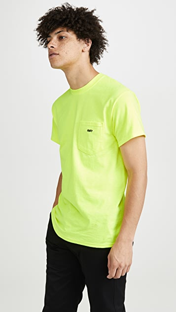 Obey Jumbled Logo Pocket Tee