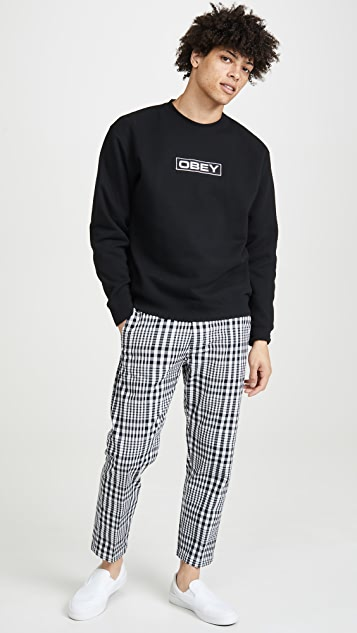 Obey Straggler Plaid Cropped Pants