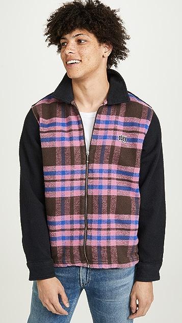 Obey Plaid Full Zip Jacket