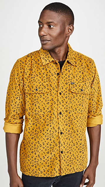 Obey Lounger Leopard Button Down Shirt