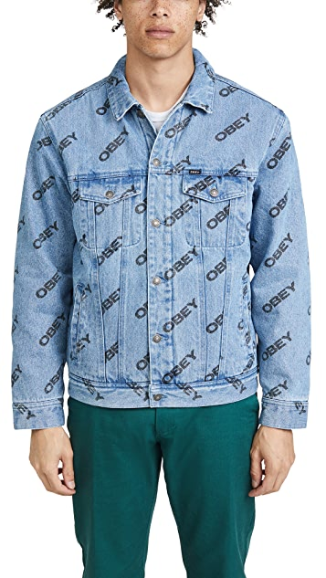 Obey Dynamite Sherpa Lined Denim Jacket