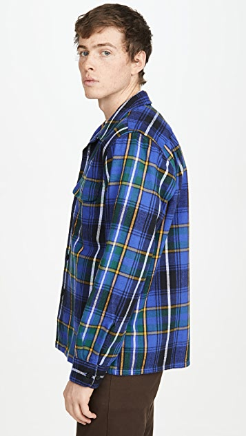 Obey Russel Flannel Plaid Shirt