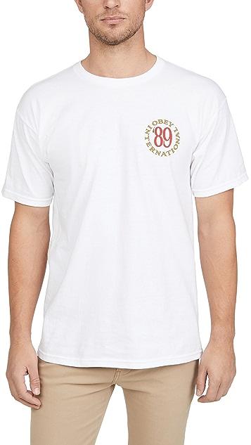 Obey Short Sleeve Obey International T-Shirt