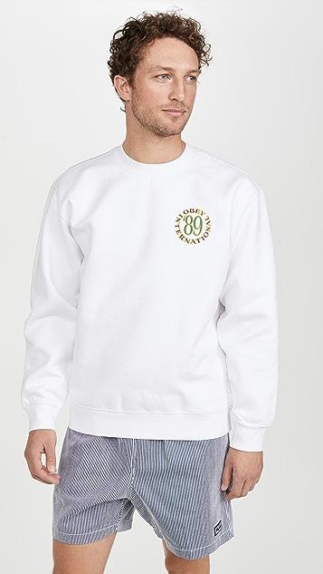 Obey Long Sleeve Obey 89 Crew Neck Sweatshirt