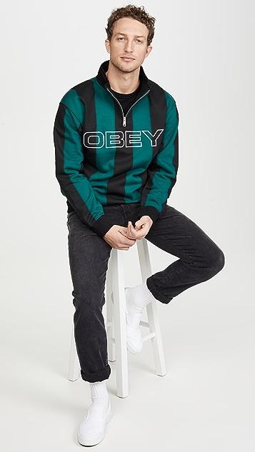 Obey Goal Zip Mock Shirt