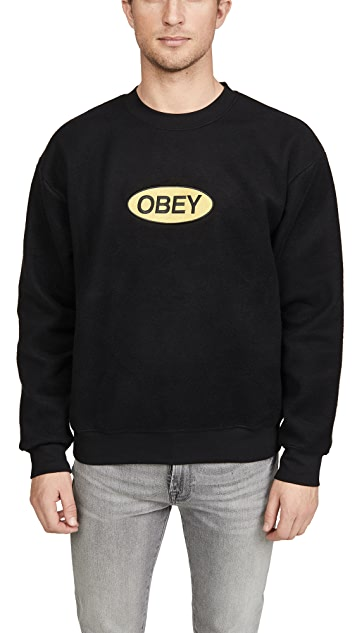 Obey Pyramid Reversed Crew Shirt