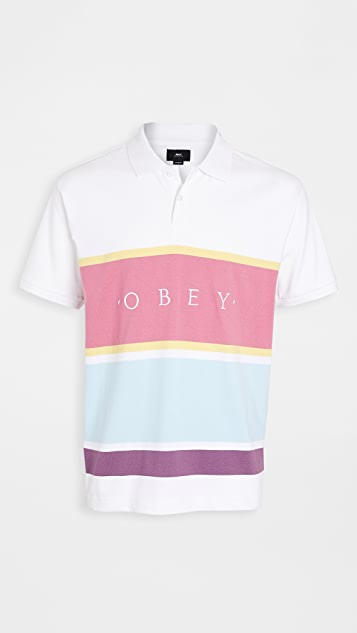 Obey Short Sleeve Pledge Polo