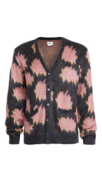 Obey Pattern + Brushed Face Sweater Cardigan