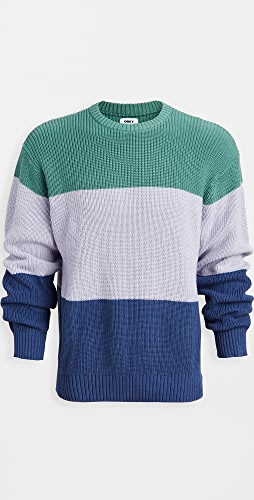 Obey - Colorblock Crew Neck Sweater