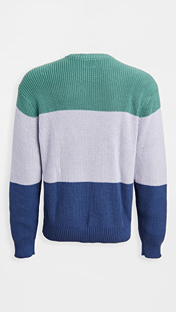 Obey Colorblock Crew Neck Sweater