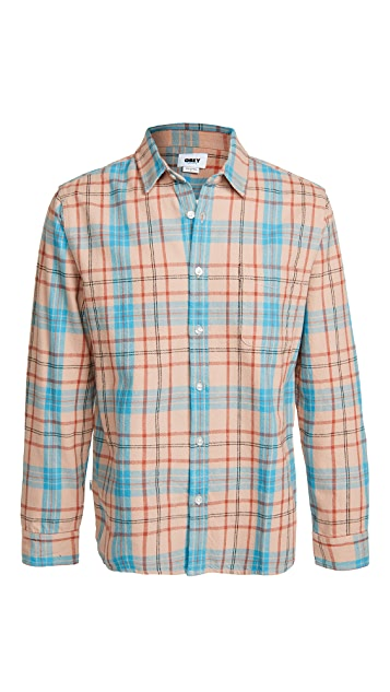 Obey Long Sleeve Lester Shirt