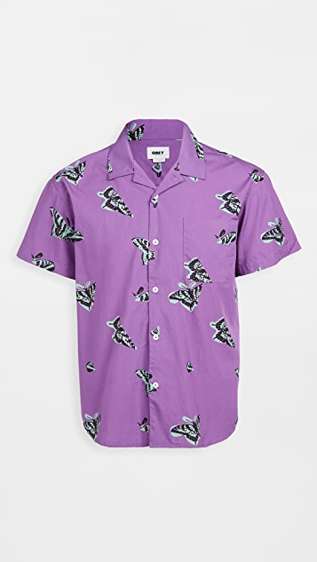 Obey Butterfly Woven Shirt