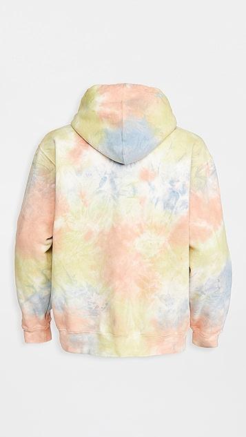 Obey Premium Fleece Tie Dye Hooded Sweatshirt