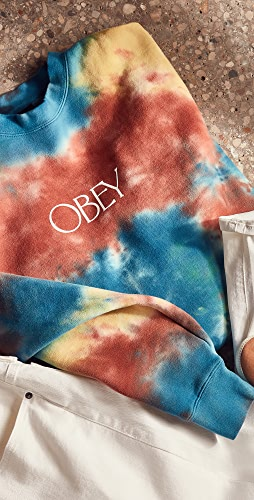 Obey - Premium Crew Fleece Tie Dye Sweatshirt