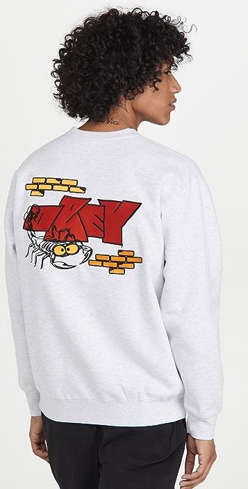 Obey Brick By Brick Crew Sweatshirt