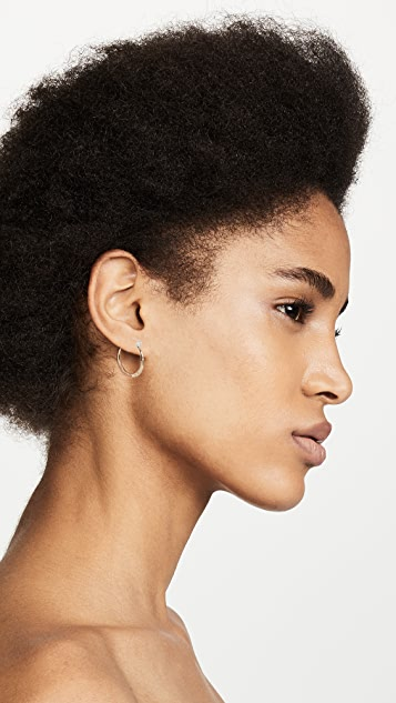 Odette New York Ridge Hoop Earrings