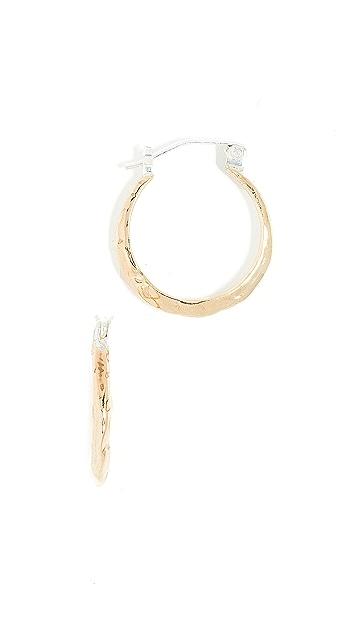 Odette New York Ridge Hoop Earrings