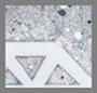 Silver Glitter/White