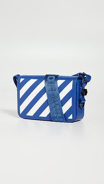оттенок белого Миниатюрная сумка Diagonal с клапаном