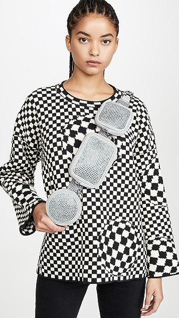 Off-White Crystal Shoulder Bag