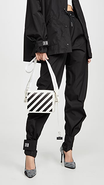 Off-White Diagonal Flap Bag